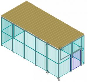 Etude et réalisation d'une charpente 3D, pour réalisation d'un plan de détail.